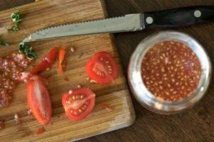 Как получить семена из помидор