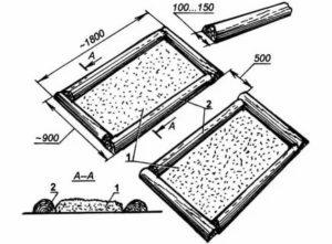 Оптимальные размеры грядок на даче