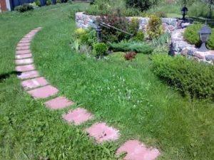 Садовая дорожка из плитки своими руками