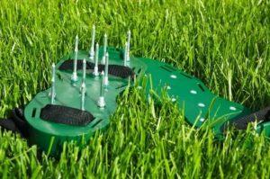 Аэрирование газона
